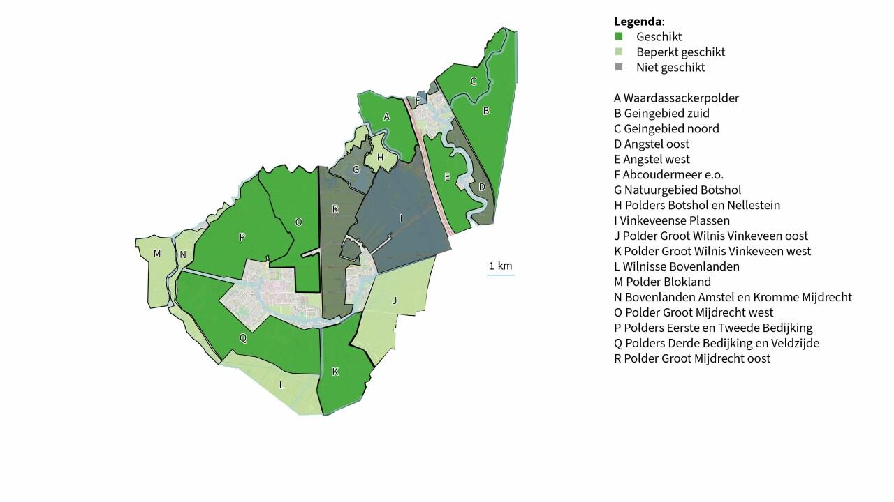Voorstel zoekgebieden naar gemeenteraad